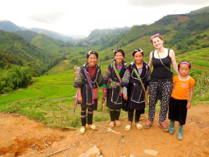 Ryżowe pola pokonane pieszo w Sa Pa