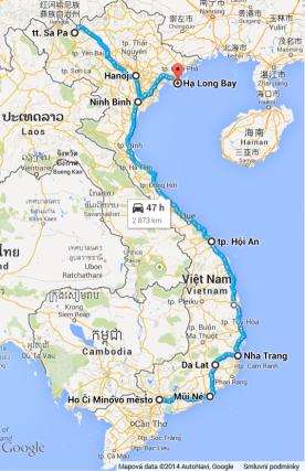 Vietnam nasza mapa
